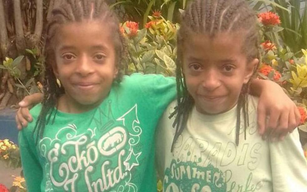 Wendel e Werner, de 10 anos, mortos em desabamento no Centro de SP (Foto: Arquivo Pessoal/Divulgação)