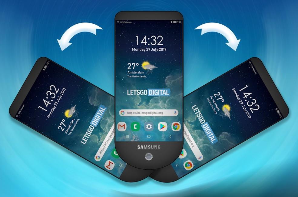 Samsung registra patente de telefone com três telas, segundo Letsgodigital â?? Foto: Reprodução/Letsgodigital