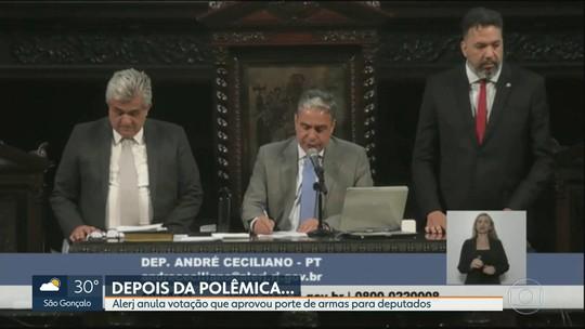 Presidente da Alerj decide cancelar votação que permite posse de armas para deputados