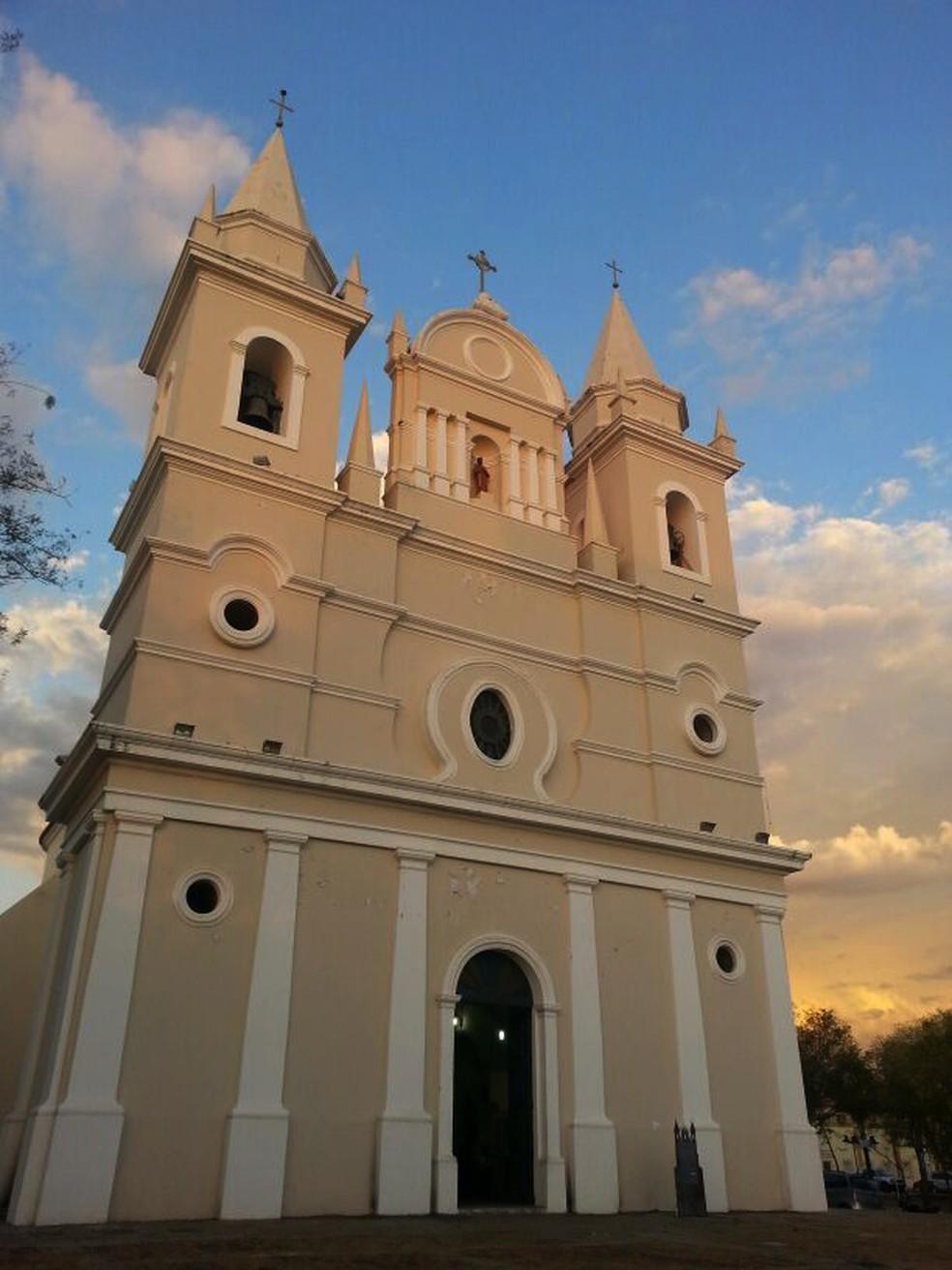 Igreja de São Benedito localizada no Centro de Teresina — Foto: Patrícia Andrade/G1