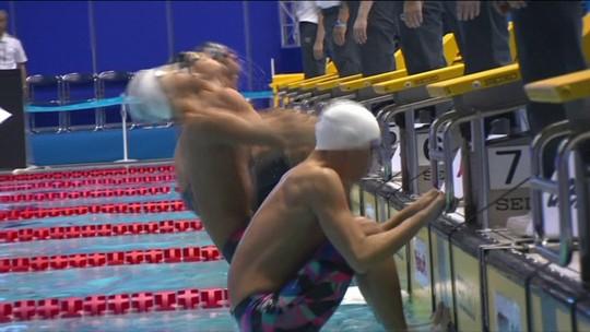 Gabriel Fantoni fica na 3ª posição da final B dos 100m costas do Pan-Pacífico