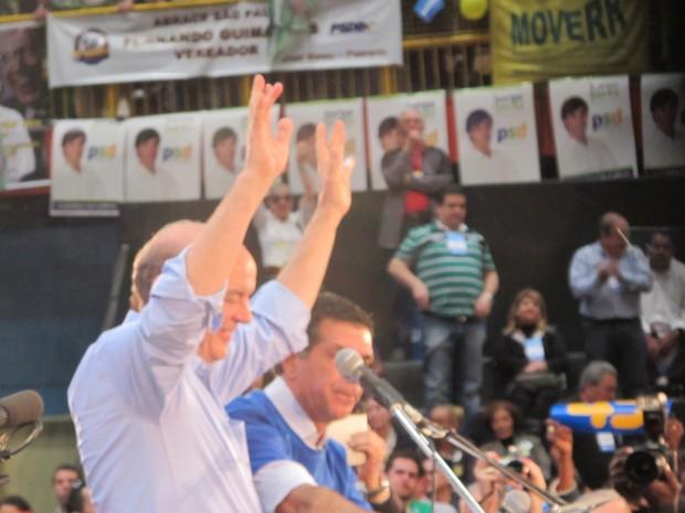 José Serra é oficializado como candidato do PSDB à Prefeitura de São Paulo (Foto: Roney Domingos/G1)