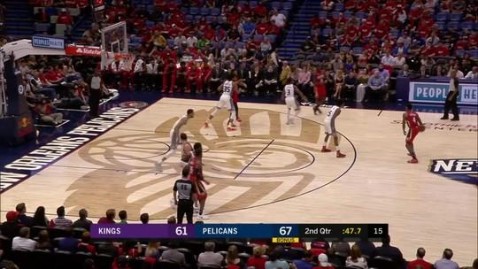 Com 149 pontos, Pelicans estabelecem recorde da franquia em vitória sobre os Kings