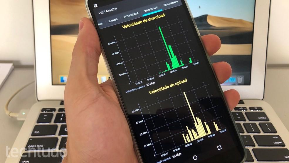 Aprenda a usar o app WiFi Monitor para monitorar a sua rede Wi-Fi — Foto: Helito Beggiora/TechTudo