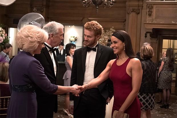 Filme sobre o romance de Harry e Meghan  estreia dia 16 de maio no Lifetime (Foto: Michael Courtney/ Divulgação)