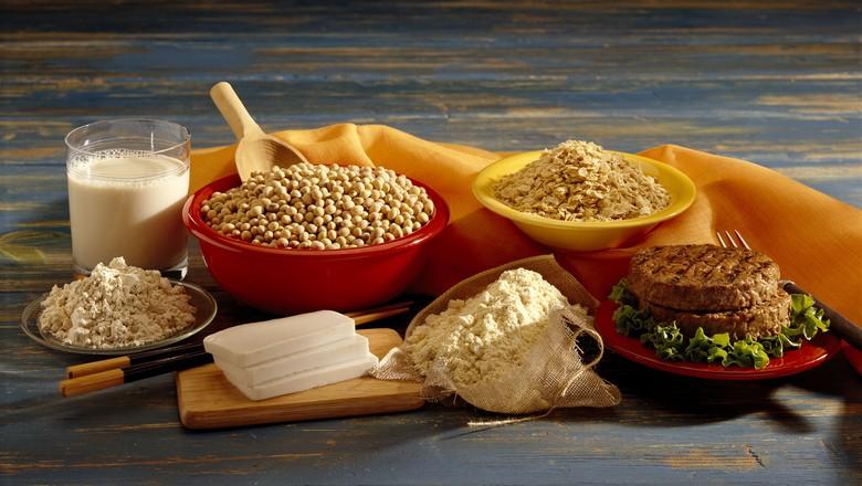 Alimentos plant-based à base de soja (Foto: Getty Images)