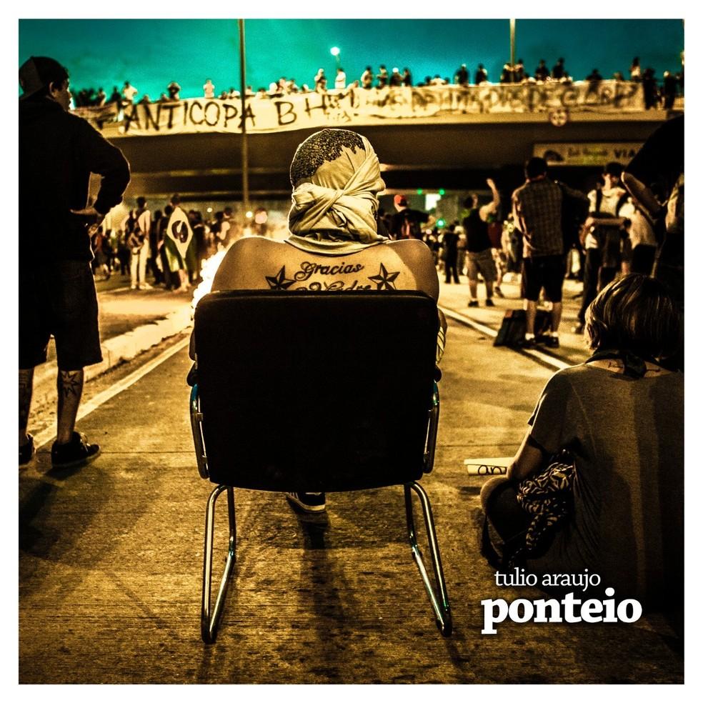 Capa do single 'Ponteio', do pandeirista Tulio Araújo — Foto: Divulgação