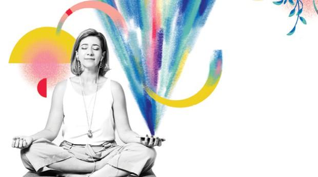 Mindfullness - Jô Cunha, 50 anos, fundadora da Academia  de Mindfulness (Foto: Juliana Frug com ilustrações de Catarina Bessell)