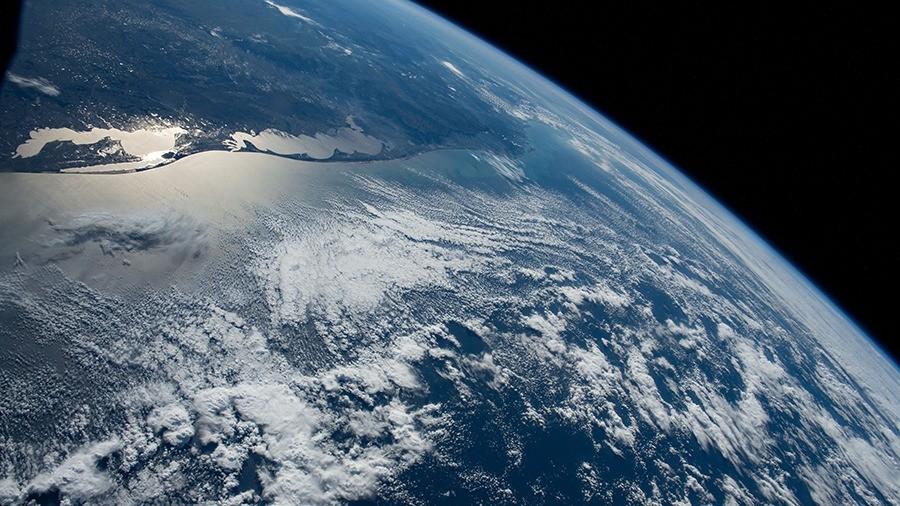 Estação Espacial Internacional registra imagem do litoral do RS; veja foto
