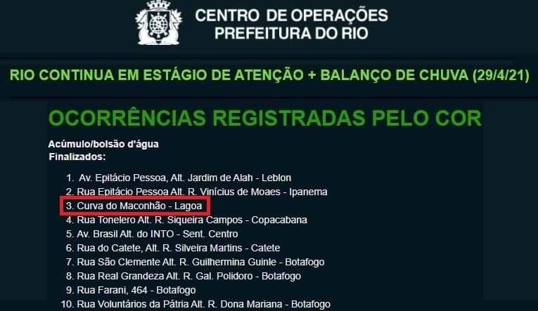 A informação passada pela Cet-Rio