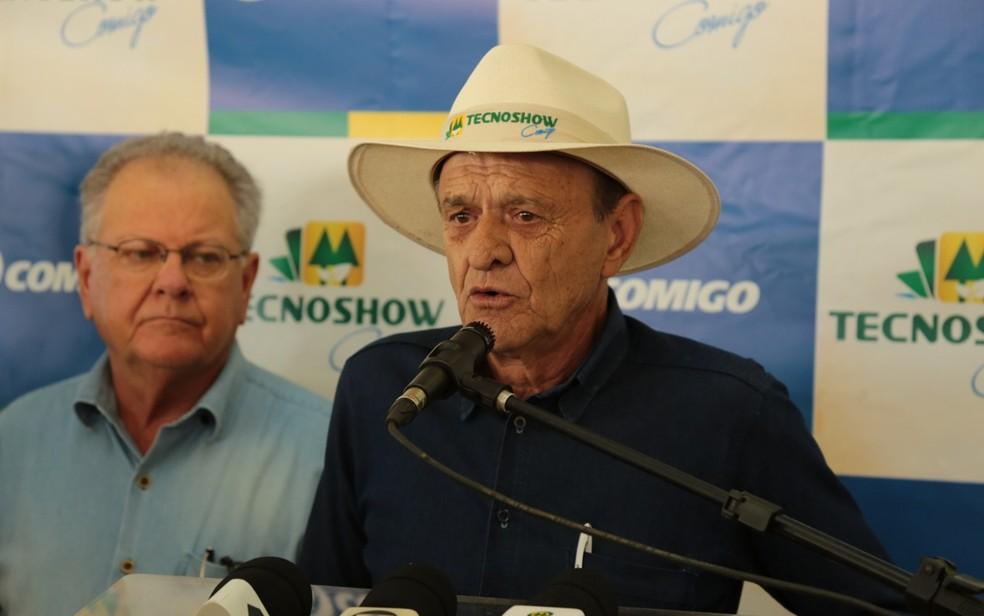 -  Antônio Chavaglia, presidente da Comigo, durante encerramento da Tecnoshow 2018  Foto: Divulgação/Comigo