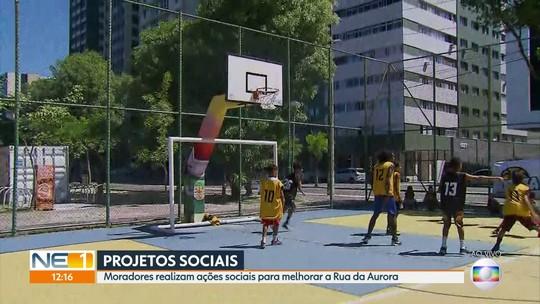 Projetos sociais buscam diminuir violência na Rua da Aurora, no Centro do Recife