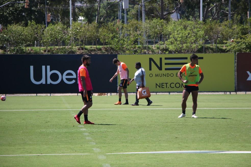 Rodrigo Dourado em treino do Inter  — Foto: Eduardo Deconto