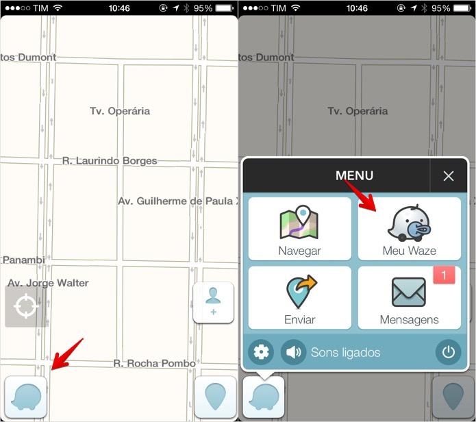 Acesse o menu do aplicativo (Foto: Reprodução/Helito Bijora)