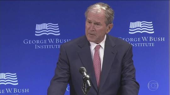Discurso de George Bush mostra o isolamento político de Trump
