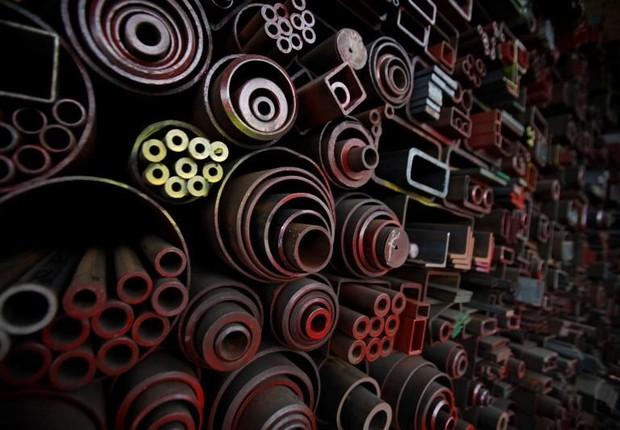 Siderurgia ; produção de aço ; metalurgia ; indústria ;  (Foto: Kim Hong-Ji/Reuters)