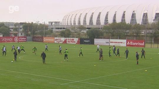 Inter treina marcação sob pressão e ataque contra possíveis retrancas; veja vídeo