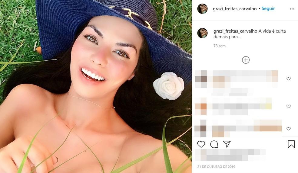 Ex-miss em postagem em rede social: 'A vida é curta demais' — Foto: Reprodução / Instagram
