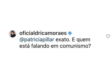 Drica Moraes concordou com o questionamento de Patricia Pillar Reprodução
