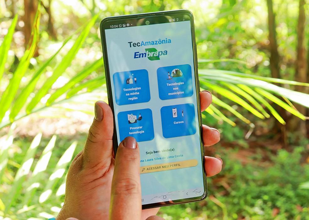 Tec Amazônia é ferramenta que disponibiliza serviços e informações sobre iniciativas sustentáveis na região da Amazônia  — Foto: Ronaldo Rosa/Embrapa