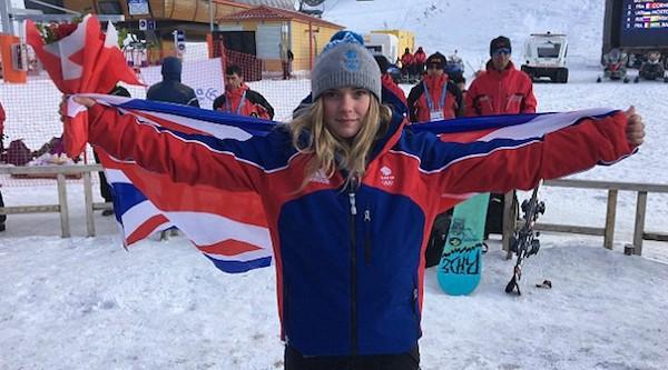 A atleta britânica de snowboard Ellie Soutter (Foto: Facebook)