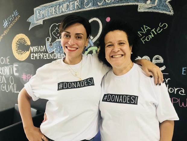 Suzana Pires e Ana Fontes (Foto: Arquivo pessoal)