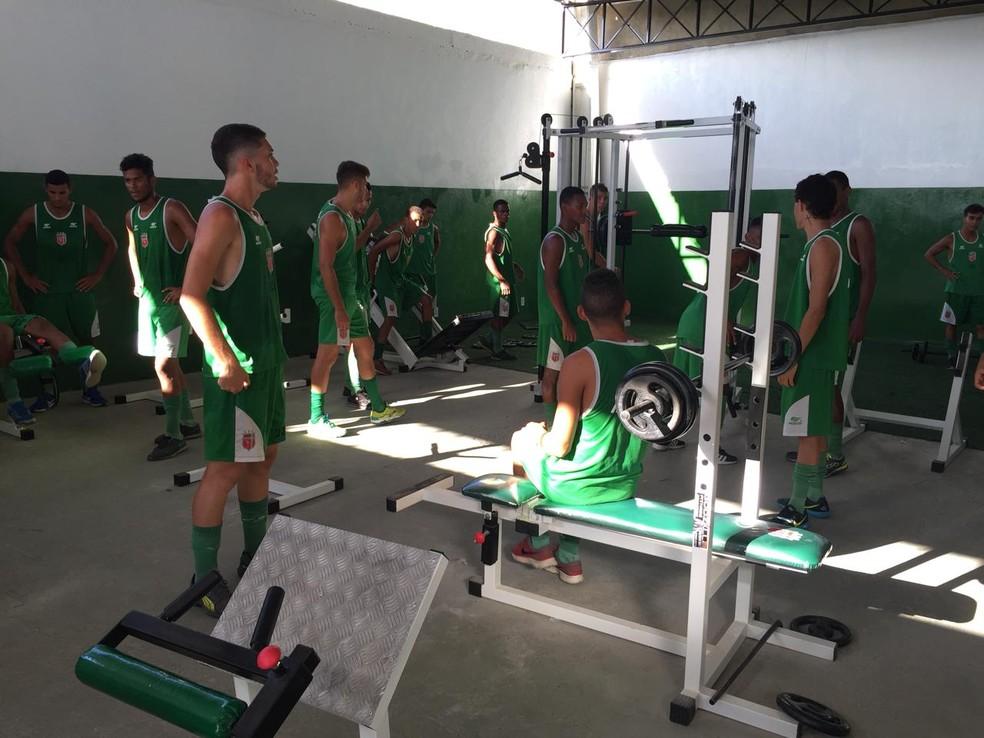 Lagarto treina visando a Copa São Paulo 2018 (Foto: Ascom/LFC)