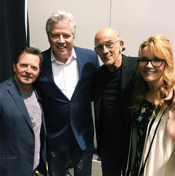 Michael J Fox, Thomas Wilson, Christopher Lloyd e Lea Thompson (Foto: Instagram)