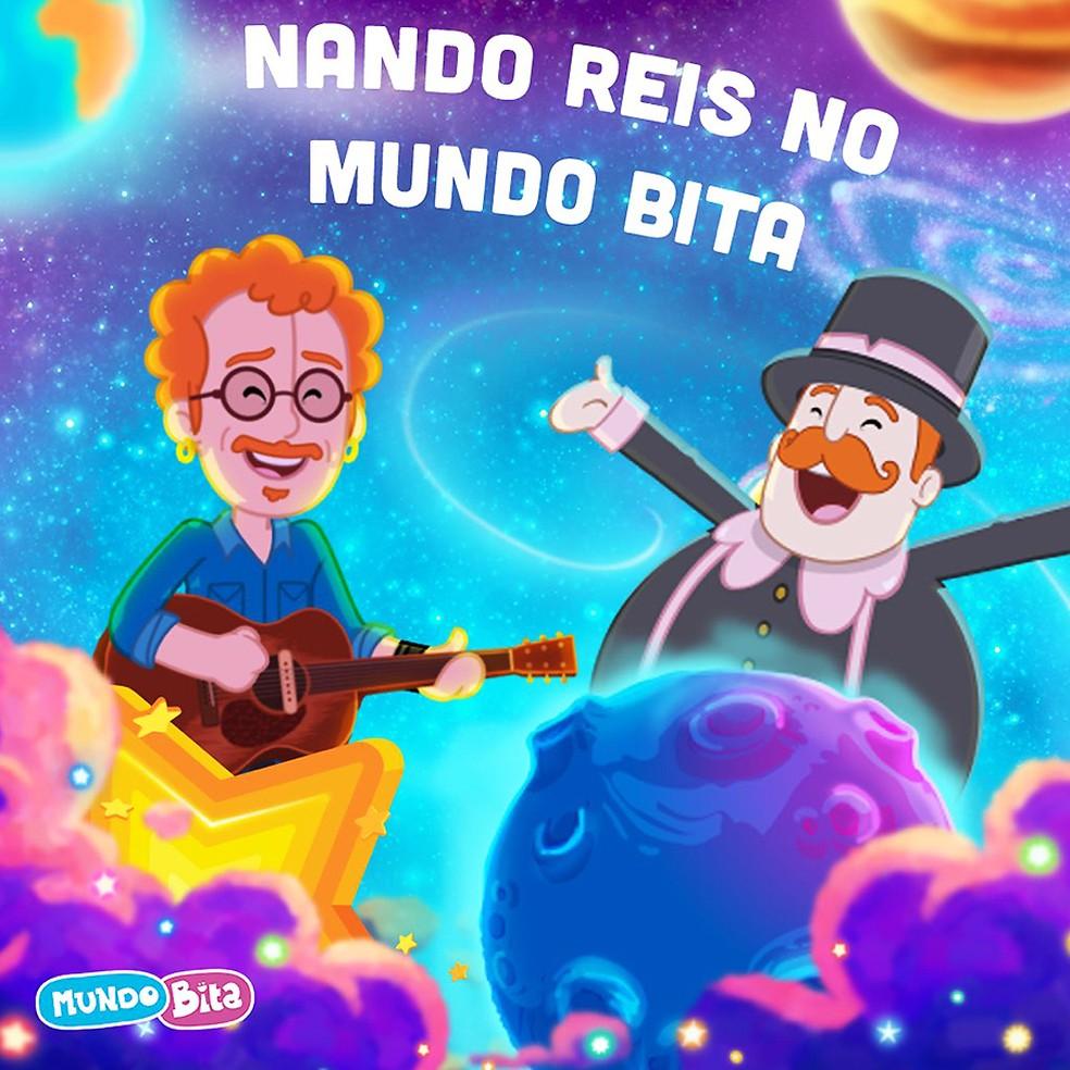 Capa do single de Nando Reis com o Mundo Bita — Foto: Divulgação