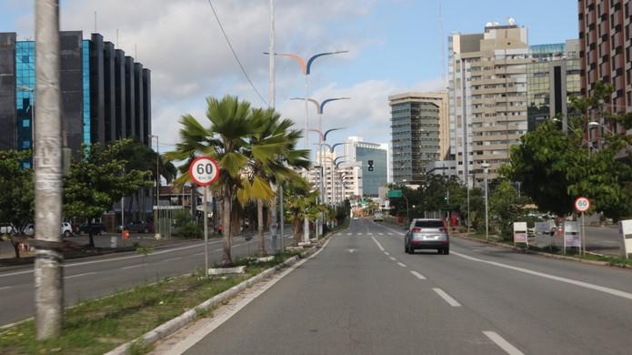 Lockdown em São Luís. — Foto: Adriano Soares/Grupo Mirante.