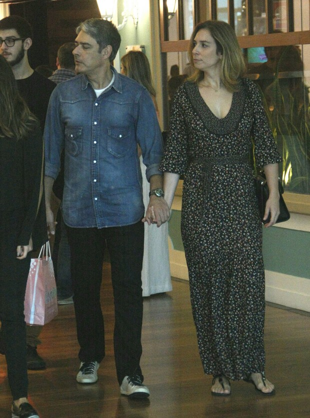 William Bonner e Natasha Dantas (Foto: AgNews)