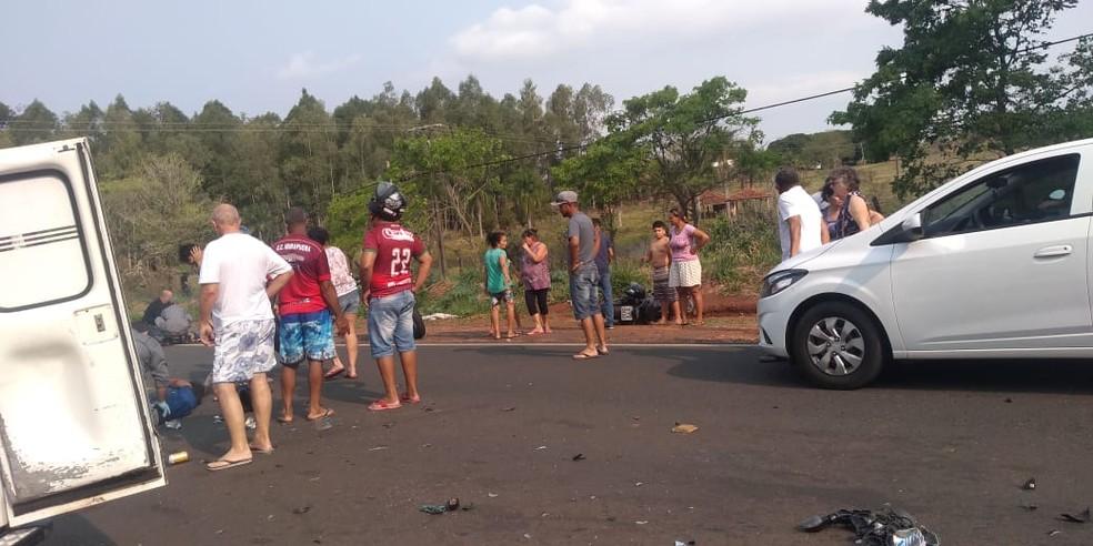 Acidente foi na vicinal que liga Tupã ao distrito de Parnaso  — Foto: Arquivo pessoal