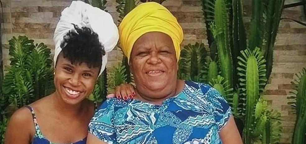 Raquel Souza e sua mãe — Foto: Arquivo pessoal