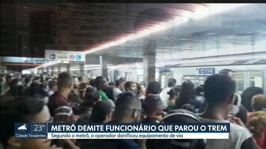Governo de SP demite funcionário do Metrô por causar paralisação na Linha 1-Azul