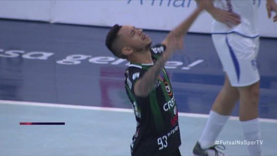 Os gols de Marreco Futsal 2 x 0 Minas pela Liga Nacional de futsal