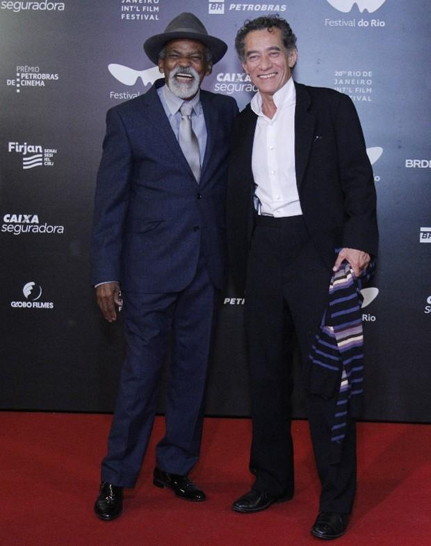 Antônio Pitanga e Chico Diaz (Foto: Wallace Barbosa/AgNews)