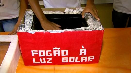 Alunos de Minas Gerais criam um fogão à luz solar