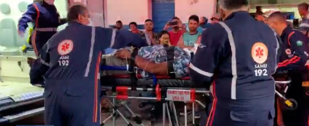 Homem é atacado com golpes de foice após discussão de trânsito no interior do RN — Foto: Reprodução/Inter TV Cabugi