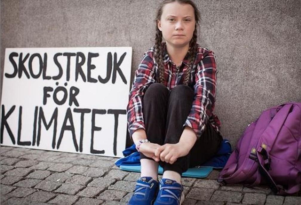 Greta Thunberg, a adolescente com Asperger que começou um movimento global de greve escolar contra as mudanças climáticas — Foto: Reprodução/Instagram