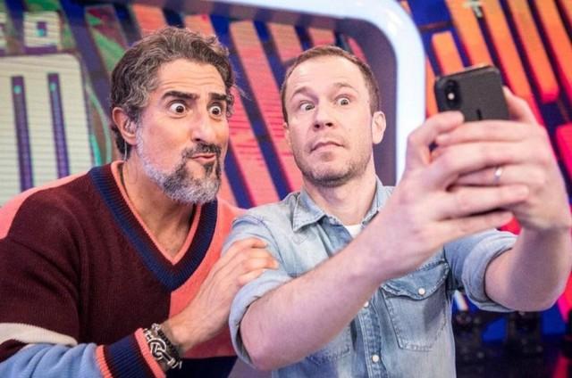 Marcos Mion e Tiago Leifert (Foto: Reprodução)