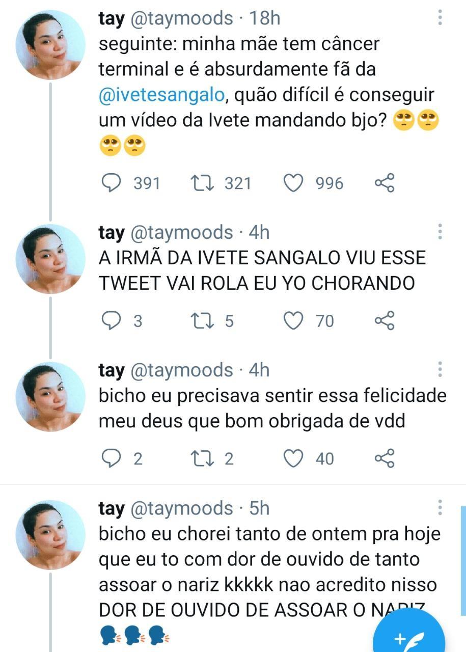Ivete Sangalo responde pedido de fã (Foto: Reprodução)