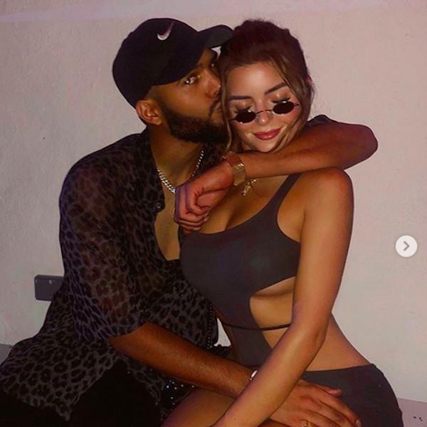 A modelo Demi Rose com o namorado (Foto: Instagram)