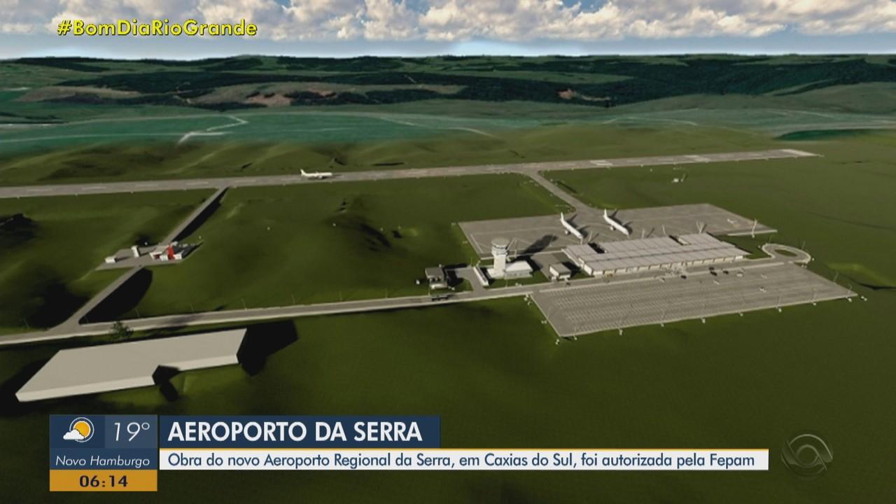 Obra do novo Aeroporto Regional da Serra, em Caxias do sul, é autorizada pela Fepam