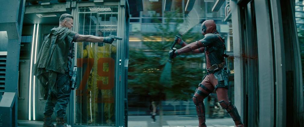 -  Josh Brolin e Ryan Reynolds em cena de   39;Deadpool 2  39;  Foto: Divulgação