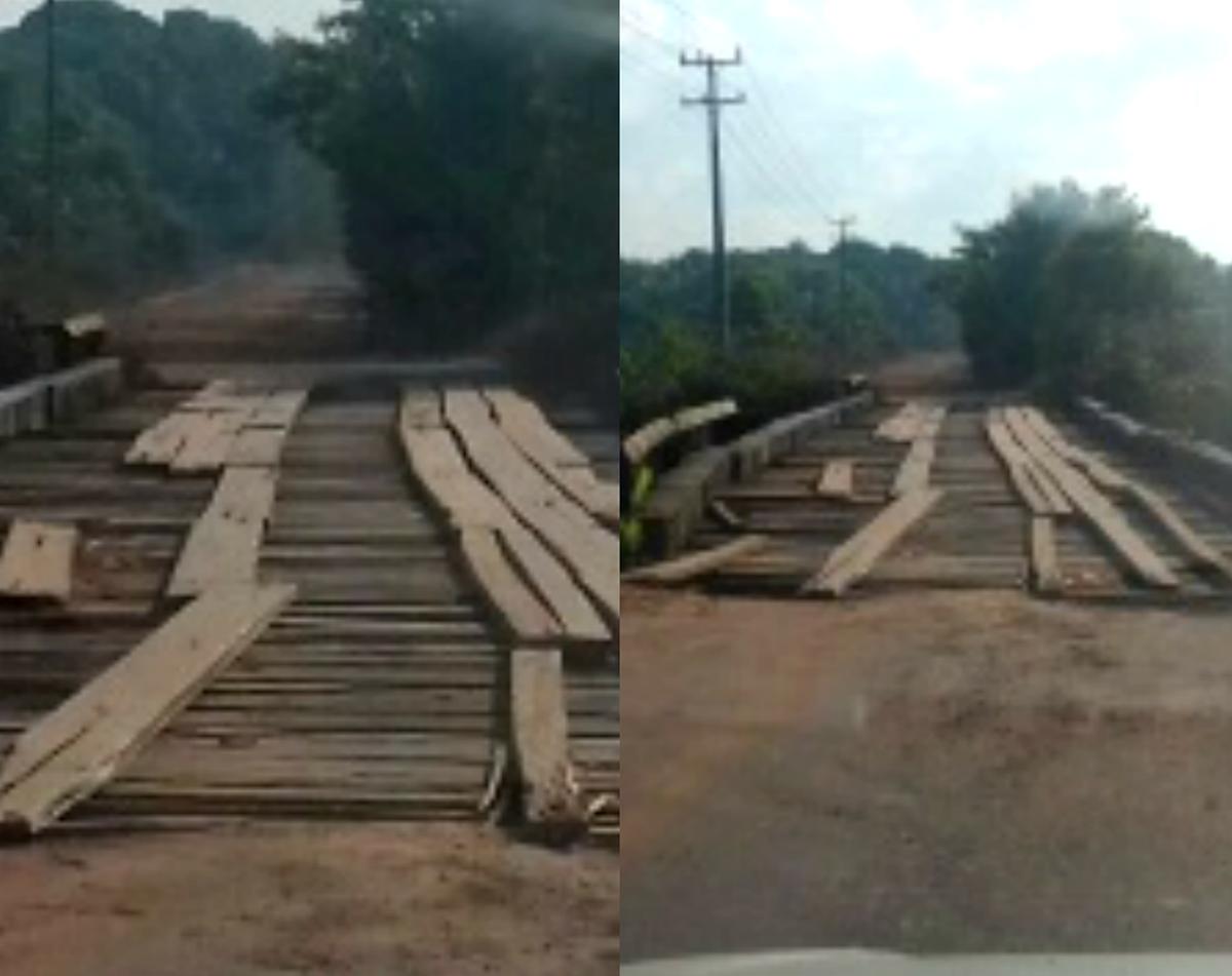 Comunidade reclama de más condições de tráfego em ponte de madeira na rodovia do AP