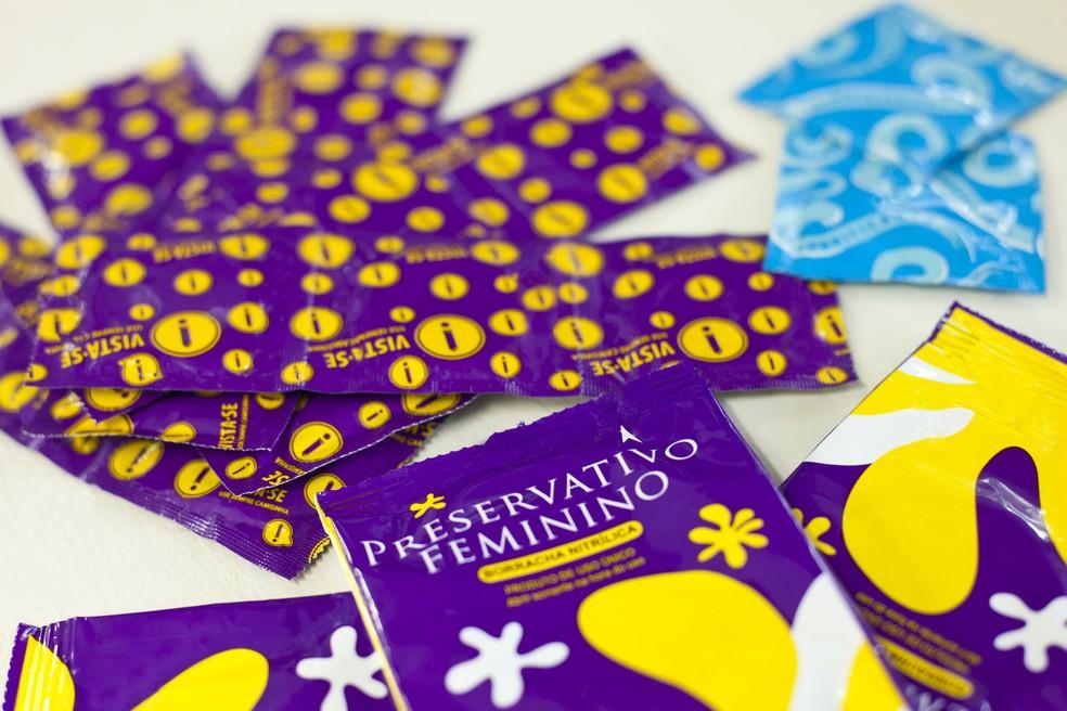 Camisinha é o contraceptivo mais indicado para proteção contra HIV  — Foto: Mariana Raphael/Saúde-DF