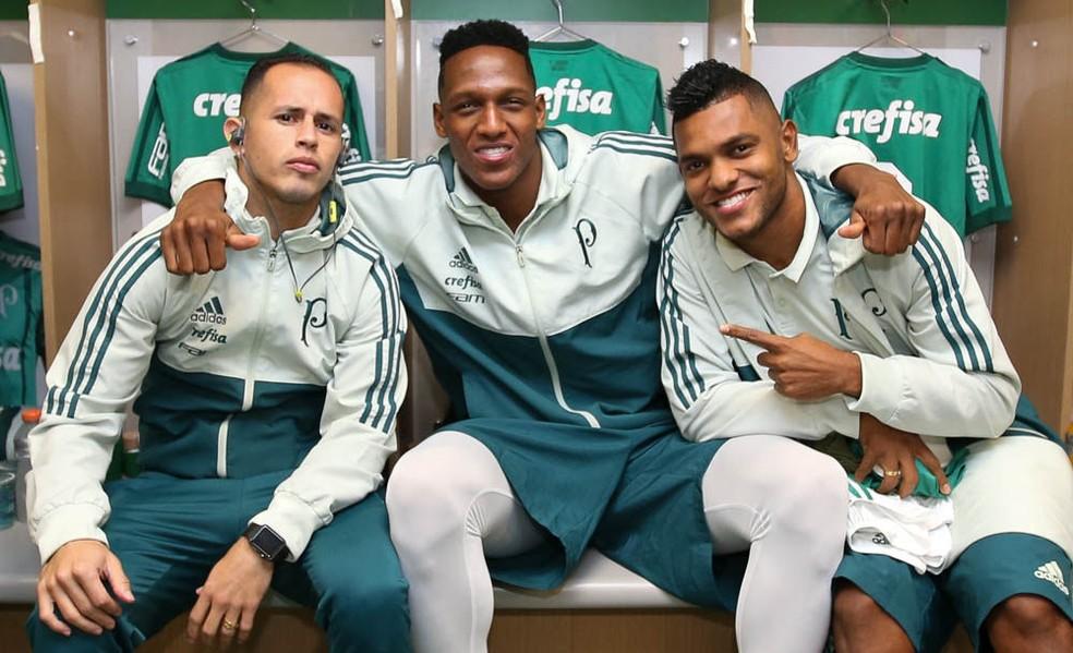 Guerra, Mina e Borja estão à disposição de Cuca (Foto: Cesar Greco/Ag. Palmeiras/Divulgação)