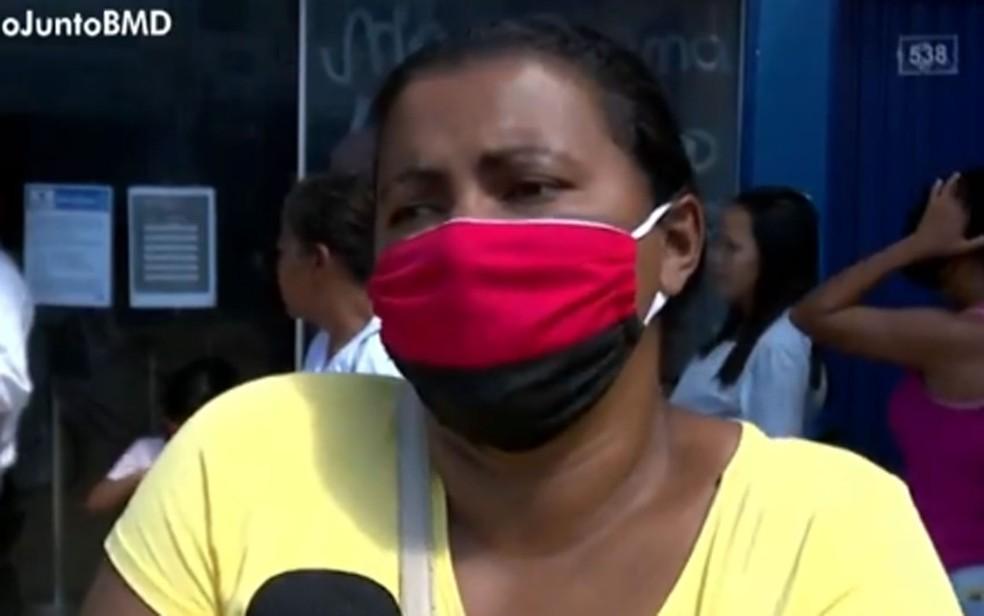 Mulher denuncia lotérica no oeste da Bahia — Foto: Reprodução/TV Bahia