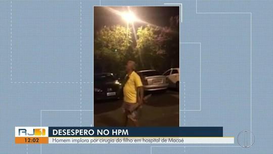 Adolescente que levou pai ao desespero em porta de hospital no RJ passa por cirurgia na cabeça