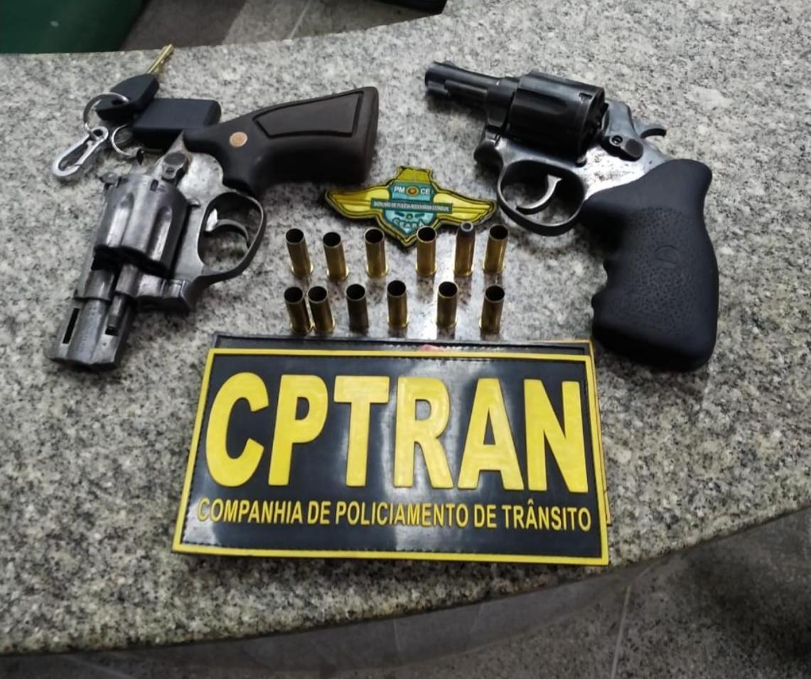 Três homens são presos com armas e munição suspeitos de cometer homicídio em Fortaleza